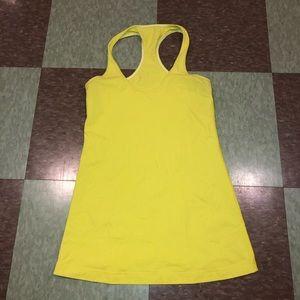 Lululemon yellow racerback tank top sm